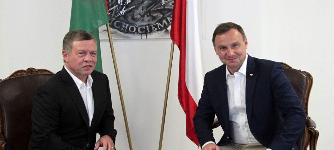Polish president meets Jordanian king