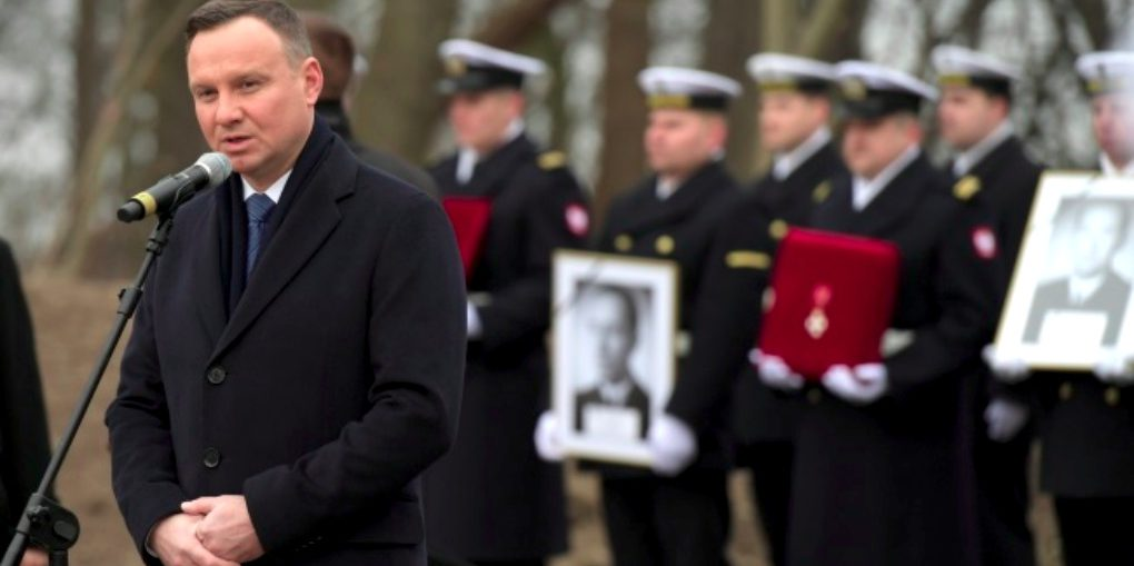 State funeral after 65 years for Polish navy officers killed by communists