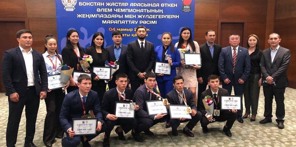Kenes Rakishev and the prize-takers of Kielce championship